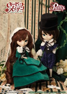 Suiseiseki and Souseiseki pullip (You just cannot have one without the other. These two are some of my favourite characters in the Rozen Maiden anime!!!)
