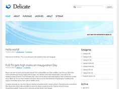 Delicate is a resposive and highly customizable lightweight theme, designed to make your blog works on mobile devices and the endless number of desktop screen resolutions. With Delicate you can adjust Color scheme, display Page-based Slideshow or Header image, style your page content with additional Shortcodes, change Slideshow effects and control Transition speed. This is a free professional WordPress theme built on the NattyWP CMS Framework.