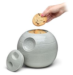 "This ceramic cookie jar that you will love to the Death Star and back. | 31 Kitchen Products For People Who Seriously Love ""Star Wars"""