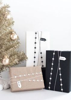 DIY- Star garland gift wrap from MichaelsMakers Homey Oh My