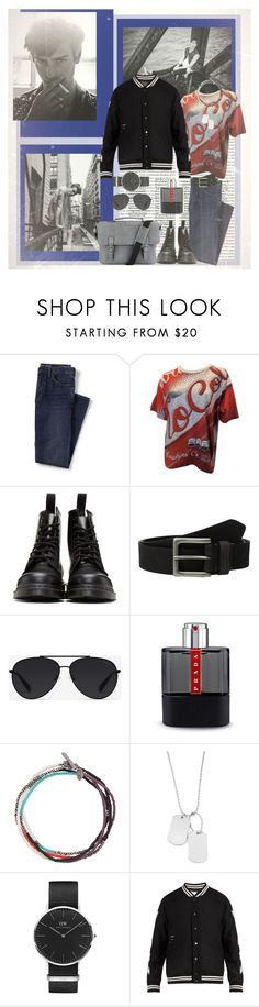 """Felices los 4"" by lablanchenoire ❤ liked on Polyvore featuring Lands' End, Moschino, Dr. Martens, Timberland, Bally, Prada, M. Cohen, Variations, Daniel Wellington and Off-White"
