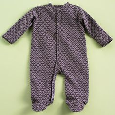The Land of Nod | Baby Clothes: Purple Organic Baby Footie Snapsuit