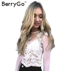 Click to order BerryGo Embroider... If you like please click the like button button http://isaledresses.com/products/berrygo-embroidery-transparent-lace-blouse-shirt-sexy-mesh-long-sleeve-party-white-blouse-women-elegant-fringe-zipper-blusas?utm_campaign=social_autopilot&utm_source=pin&utm_medium=pin  Global Shipping!