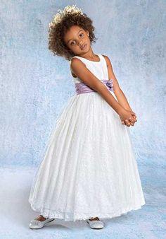 cf685b7922d Alfred Angelo Flower Girls 6680 Ivory Flower Girl Dress Red Flower Girl  Dresses