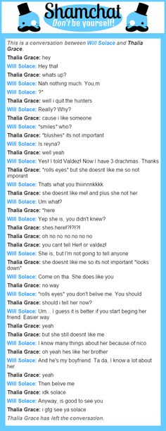 A conversation between Thalia Grace and  Will Solace