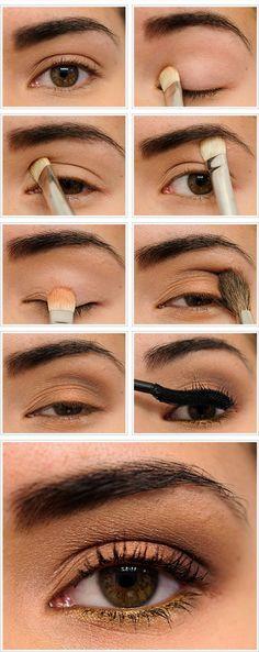 Fantásticos pasos para maquillaje de día. Encuentra más tutoriales en http://www.1001consejos.com/