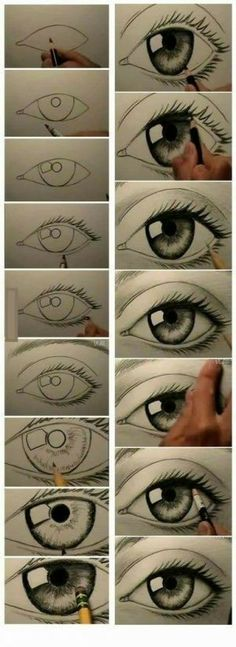 Secrets Of Drawing Realistic Pencil Portraits - how to draw eyes .in case you didnt know. who wouldnt know?o) Secrets Of Drawing Realistic Pencil Portraits - Discover The Secrets Of Drawing Realistic Pencil Portraits Pencil Art Drawings, Drawing Sketches, Drawing Ideas, Drawing Faces, Drawing Pictures, Drawing Art, Drawing An Eye, Drawing Reference, Learn Drawing
