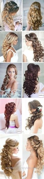 Incredible elegant curly half up half down wedding hairstyles / www.himisspuff.co…  The post  elegant curly half up half down wedding hairstyles / www.himisspuff.co……  appeared first on  Emme's Ha ..