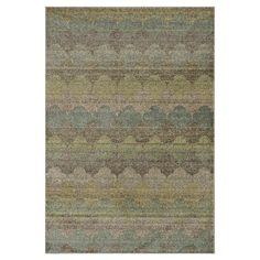 Rug with a distressed diamonds motif. Made in Egypt.  Product: RugConstruction Material: Polypropylene