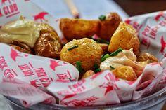 The Pot Luck Club, geräucherte Ofenkartoffeln, Paprika Majonnaise