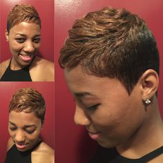 Short Pixie cut.... Hair by Raijona of Serenity Hair Studio