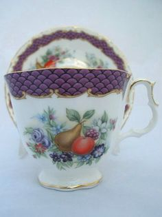 Royal Albert Purple Chateau   Imperial Fruits