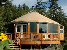 wouldn't it be great to have a colony of yurts in condo-crazy Vancouver? dare to dream...