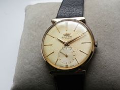 Fortis Swiss Watch Vintage GOLD PLATED 21 JEWEL MANUAL WIND-UNUSUAL