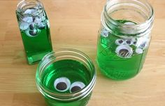 Preschool Crafts for Kids*: Halloween Monster Alien Jars Craft