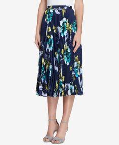 c82b0e714c76 Tahari ASL Pleated Floral-Print Midi Skirt, Regular & Petite & Reviews -  Skirts - Women - Macy's