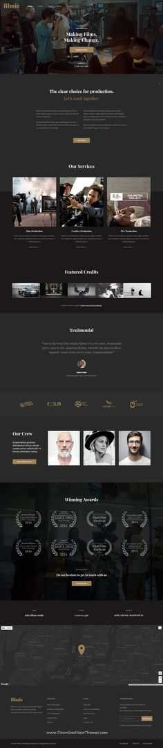 Filmic is clean and modern design 6in1 responsive #WordPress #theme for #movie #studio and #filmmakers beautiful website to download & live preview click on image or Visit