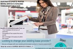 Encourage company staff with our services for printer on rent in Delhi NCR, gurgaon, noida & Faridabad kopier services Call: 9810003289 Website: http://www.kopierservices.com Email: kopierservices@gmail.com
