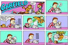 Garfield   Daily Comic Strip on August 10th, 1986