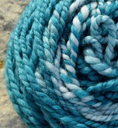 Hey, I found this really awesome Etsy listing at https://www.etsy.com/listing/214539537/handspun-yarn-deep-tealturquoise-and