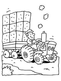 kleurplaat boerderij peuters - Google zoeken