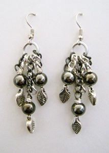 silver-leaf-pearl-earrings (examine technique for unfinished earring project)