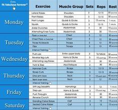 Image result for women 1 week gym plan