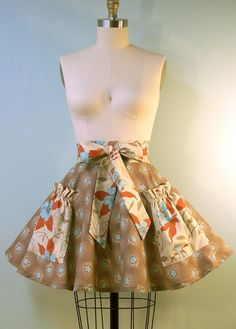 life's too short to wear an ugly apron...retro inspired half apron