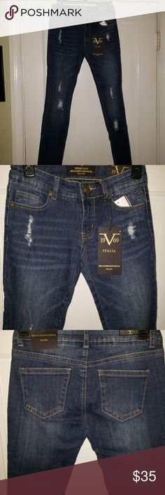 c456243bce9 Shop Women's Versace Jeans Collection Blue size Various Skinny at a  discounted price at Poshmark. Very cute!