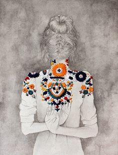 Izziyana Suhaimi, una ilustradora que borda sobre papel