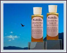 Calendula Rosemary Myrrh Scalp Hair Oil and Hair Mask, for shiny hair and a…