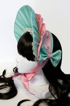 mint and pink bonnet