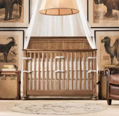 After much debate and an online poll, I decided to put a sheer mesh canopy over the crib instead of framed artwork.  See the whole nursery here.  I absolutely love the look of this one featured by Restoration Hardware (accompanied by the Jameson crib collection).     I hunted online for one that had the … … Continue reading →