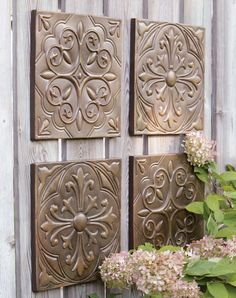 Dress up a backyard fence with our Ashley Plaques.