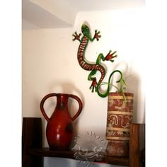 1000 images about d co lezard on pinterest geckos for Deco murale originale metal