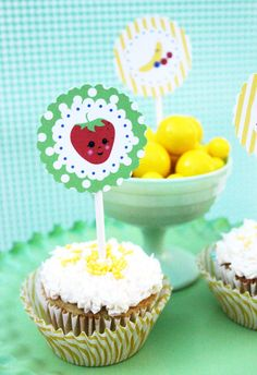 Cute Fruit Printable Party Circles