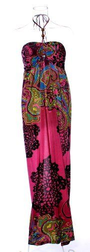 I want this!!!! Under $20 sweetness....... Tube Top Halter Maxi Dress / Coverup with Jewelry Trim in Silky 'ITY' Print Fabric in Fuschia Size: 3X Curve Appeal, http://www.amazon.com/dp/B008545XHI/ref=cm_sw_r_pi_dp_0XT1pb12DF05K