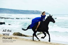 Equestrian Beachwear Editorial shoot. We love this beach as a location -the backdrop is stunning