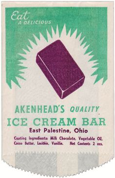 vintage ice cream bar wrapper
