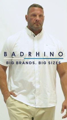 Find plus size men's fashion that fits with our collection of big and tall clothing here at BadRhino. Discover our handpicked selection of brands with extended sizes to our own range which fits better than ever, in sizes M-8XL. Stock up on all of your wardrobe essentials from big men's t-shirts, staple denim jeans, shirts and so much. Whatever the occasion, our plus size clothing for men has got you covered. #bigandtall#bigmensclothing#plussizemensfashion#bigandtallstyle#largemensclothing Big And Tall Style, Big And Tall Outfits, Mens Big And Tall, Mens Plus Size Fashion, Big Men Fashion, Tall Clothing, Size Clothing, Luminor Watches, Denim Jeans