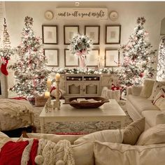 Design Your Spaces ( design_your_spaces ) - Love this beautiful farmhouse Christmas 🎄 decor! What do you think of the double Christmas tree? I love this look but my only concern is where are the p Enjoy my festive buffalo check Christmas Home Tour, com Flocked Christmas Trees, Noel Christmas, Christmas Tree Decorations, White Christmas, Christmas Countdown, Beautiful Christmas, Christmas Design, Elegant Christmas Decor, Simple Christmas