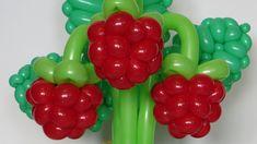 Ягода малина из шаров / Raspberry of balloon, twisting