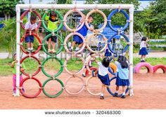 Playground Made from Recycled Tires