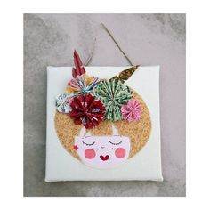 Picture Miss Pim, textile art, nursery decoration, child picture personalized with a name