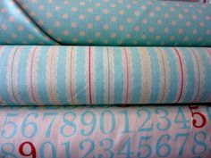 numbers fabric bundle by bumbletees on Etsy