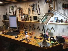Electronics workbench by mitch haile, via Flickr