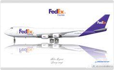 https://flic.kr/p/tALvsP   FedEx Livery concept   FedEx Express / Boeing 747-8F / Livery concept