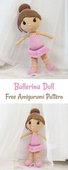 Crochet this pretty in pink ballerina doll to make a perfect gift for your little princess!