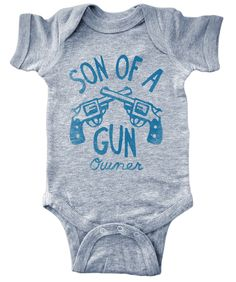 Son of a Gun (owner) Onesie, Son, Gun, owner, Onesie, shirt, baby clothes, baby, pro gun, pro gun baby, 2nd amendment baby clothes