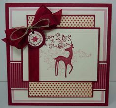 Dasher Card-Christmas. I REALLY want this stamp!